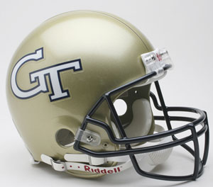 Georgia Tech Full Size Authentic Riddell Proline Helmet